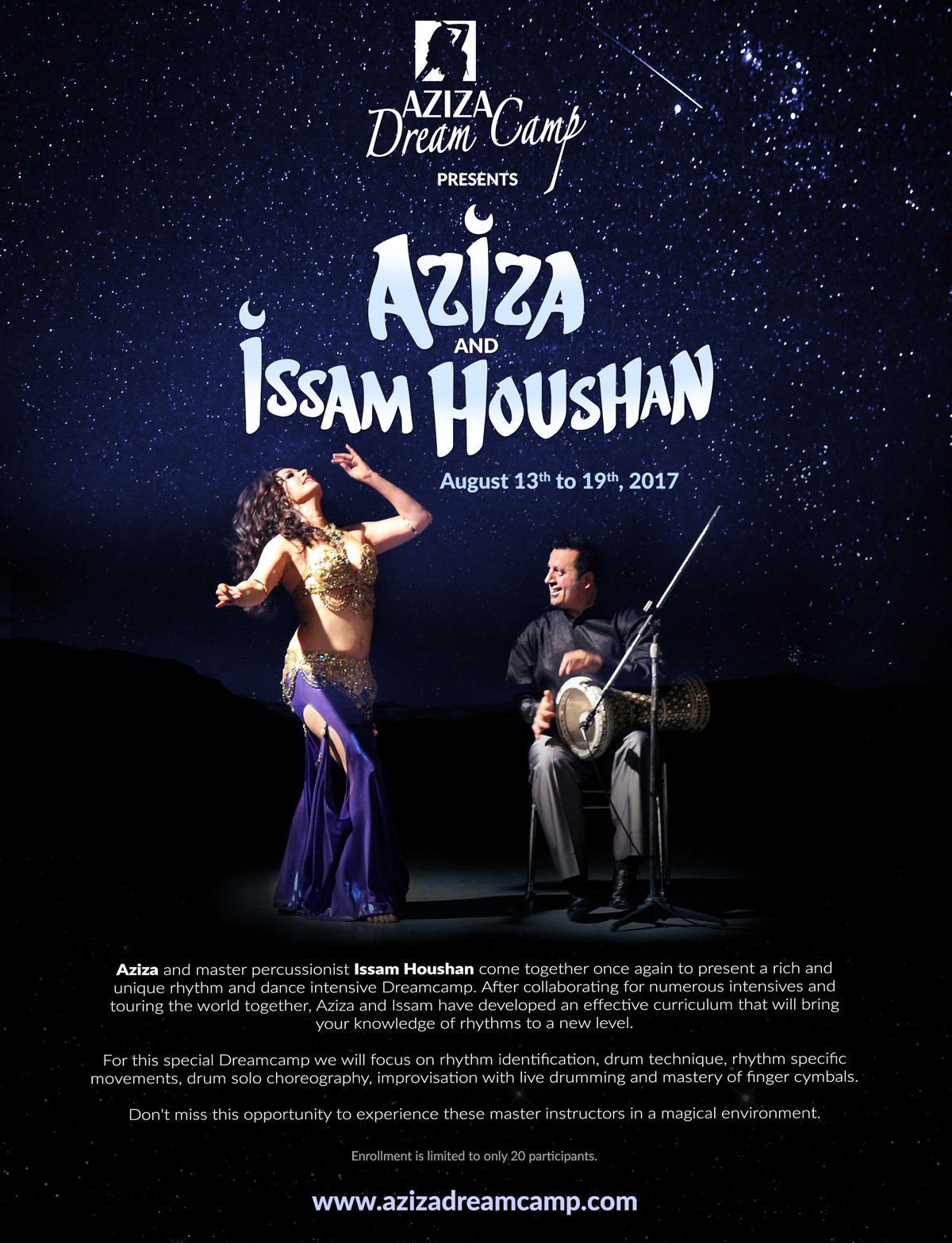 belly dance retreat aziza dreamcamp august 2017 issam houshan