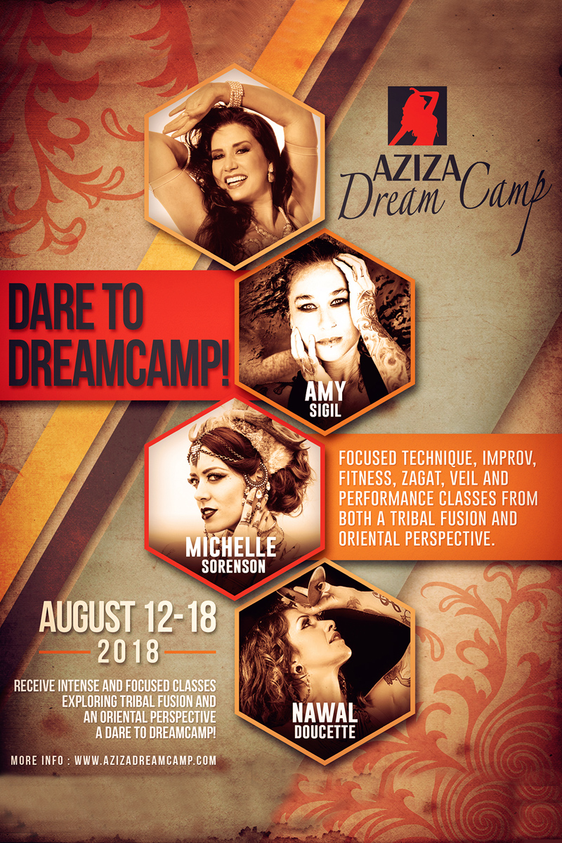 Bellydance Aziza dreamcamp with Amy