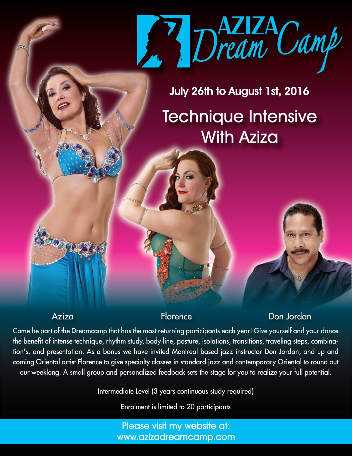 belly dance retreat aziza dreamcamp july 2016